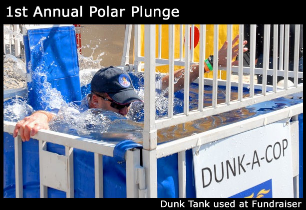 dunk tank used at a fundraiser