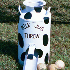Milk Jug Throw carnival game