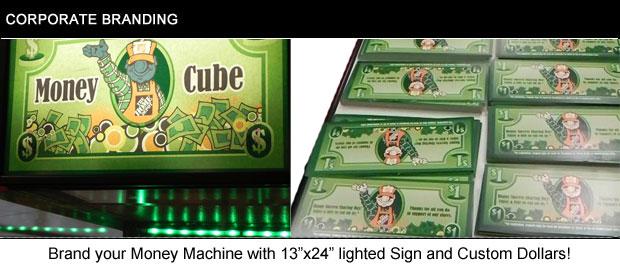 corporate branding money machine