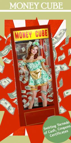 money cube, money machine, cash cube, money booth