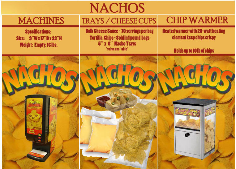 nacho supplies, nacho machine rentals