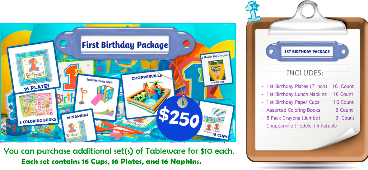First Birthday Party Rental Package