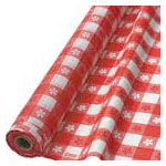 Plastic Gingham Table Cloth Roll