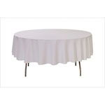 White Round Table Cloth