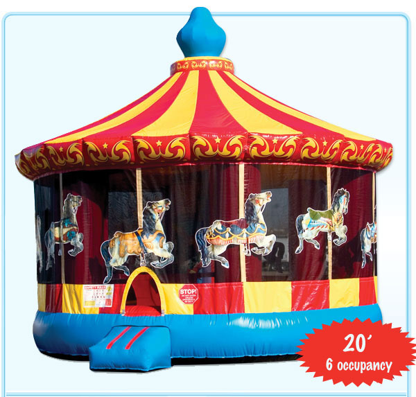 Admirable Carousel Bounce House Rental Interior Design Ideas Gentotryabchikinfo