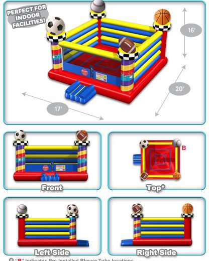 Open Air Sports Bounce House Layout