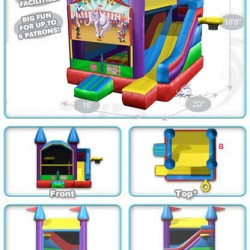 circus castle bounce house