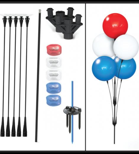 Balloon Cluster Pole Kit Parts