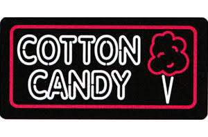 Cotton Candy Lighted Sign