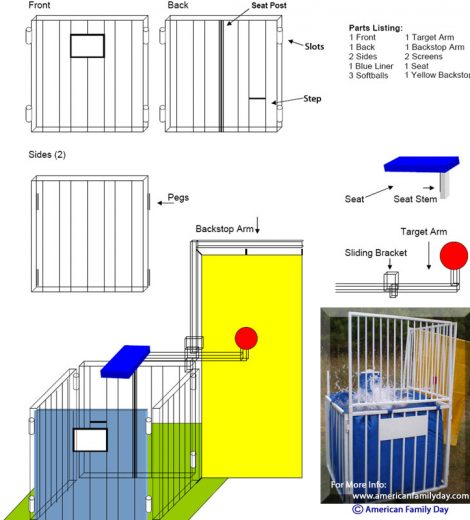 Dunk Tank Assembly Instructions