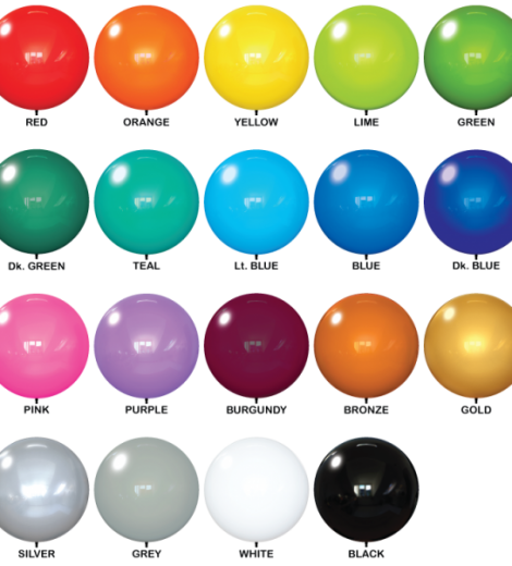 Duraballoon Replacement Balloon Colors