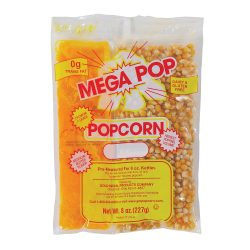 6 oz. Popcorn Pack, Mega Pop Popcorn Kit