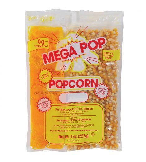 6 oz. Popcorn Pack, Mega Pop Popcorn Kit