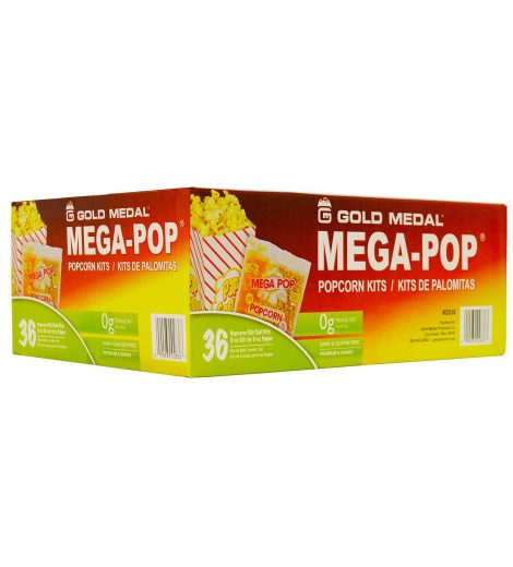 6 oz. Popcorn Pack Case, Mega Pop Popcorn Case