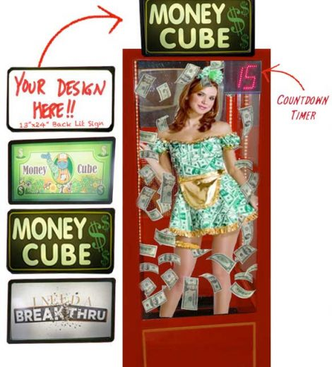 Money Cube / Cash Cube / Money Booth