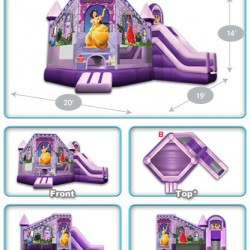 princess castle inflatable bounce house
