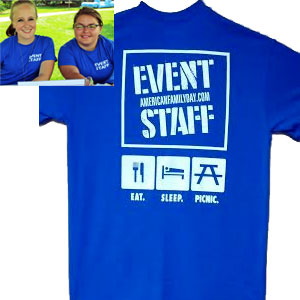 Tshirt for Sale! Event Staff!