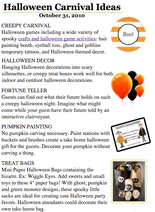 Carnival Halloween Party Ideas.Halloween Ideas 2010 Halloween Party Ideas Halloween