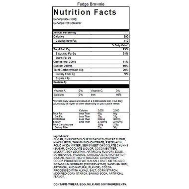 Pillsbury Chocolate Chunk Fudge Brownies (4 lb.) Ingredients