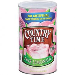 Country Time Pink Lemonade. Makes 34 quarts!