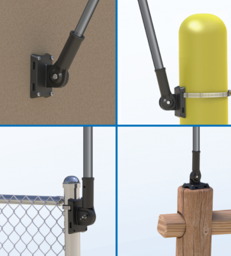 Adjustable Bracket Balloon Pole Kit Mount