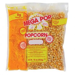 12 oz. Popcorn Pack, Mega Pop Popcorn Kit