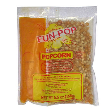 4 oz. Popcorn Pack, Mega Pop Popcorn Kit