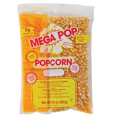 8 oz. Popcorn Pack, Mega Pop Popcorn Kit
