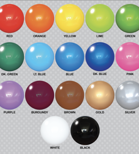 "PermaShine Balloon 30"" colors"