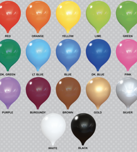 "PermaShine Colors 12"" Balloon Colors"