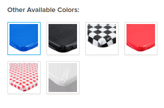 DISPOSABLE FITTED PLASTIC TABLE COVER Colors