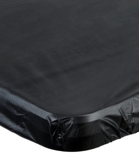 "29"" x 72"" Black plastic table cover"