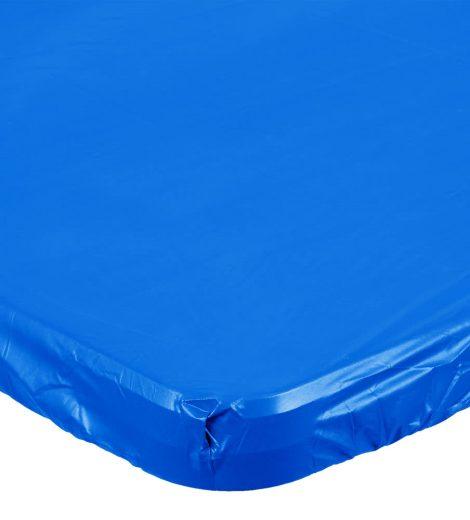 "29"" x 72"" Royal Blue plastic table cover"