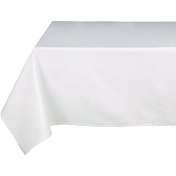 "54"" x 120"" Rectangular Tablecloth (White) Table Cover"