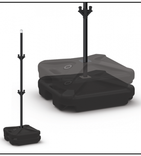 Cluster Pole Kit Weighted Base