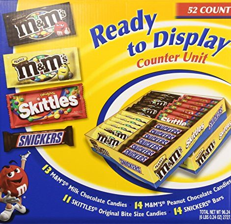 Mars Candy Ready to Display Assorted Candy