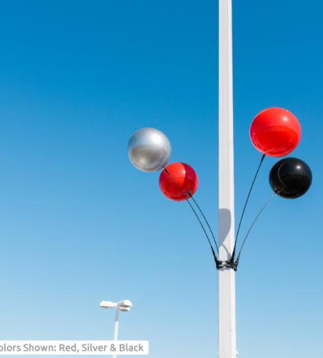 DuraBalloon Quad Light Pole Kit (4 Balloon Pack)