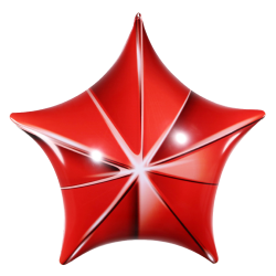 permashape-red-3d-star-kit