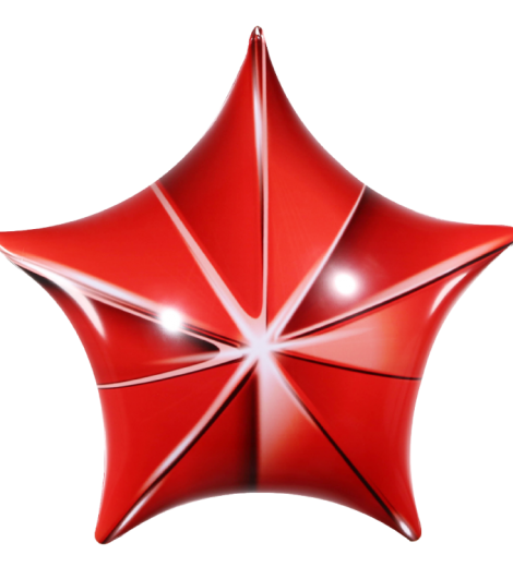 permashape-red-3d-star-kit