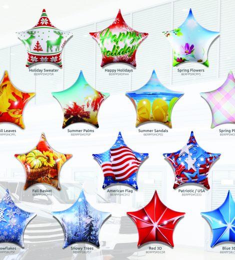 PermaShape Stars Balloons