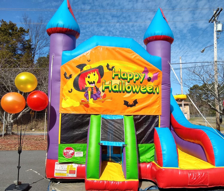 Happy Halloween Castle Combo Bounce House Rental