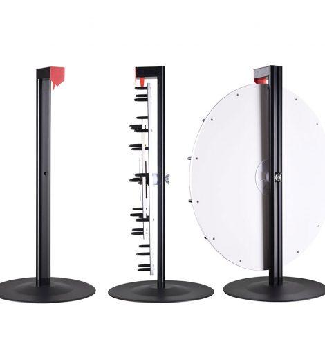 """Prize Wheel (24"""") side view"""