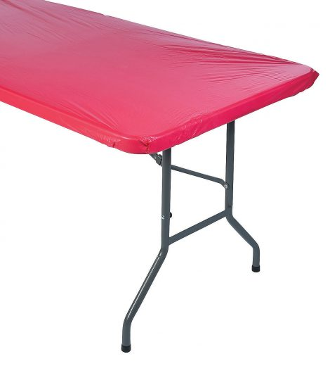 red-fitted-rectangle-plastic-tablecloth