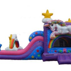 Unicorn Bounce Inflatable Slide Dry/Wet Combo