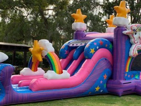 Unicorn Bounce Inflatable Slide Dry/Wet Combo